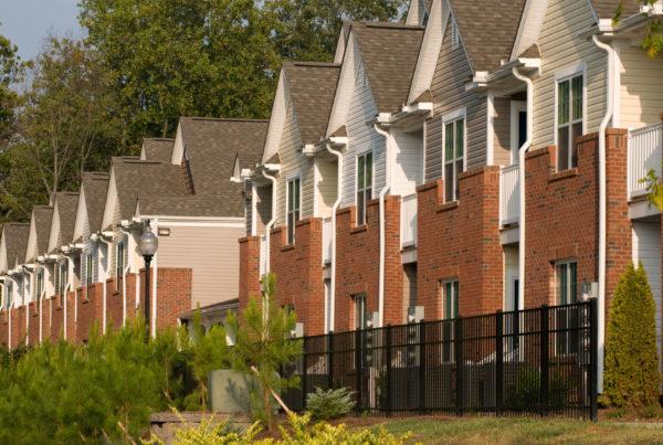 photograph of row houses
